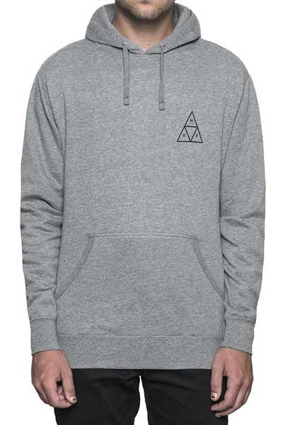 HUF Triple Triangle Pullover Fleece - Grey Heather