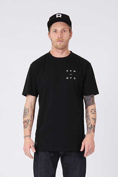 Rpm Box Tee - Black