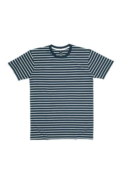 AS Colour Staple Stripe Tee - Navy/White
