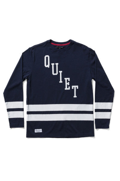 The Quiet Life Hockey Jersey LS Tee - Navy/White