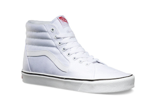 Vans sk8 high Lite + Canvas - True White