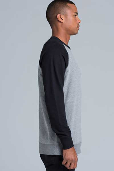 AS Colour Basics contrast Crew - Steel/Black