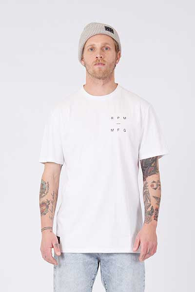 Rpm Box Tee - White