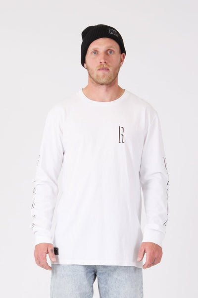 RPM Shaddow L/S Tee - White