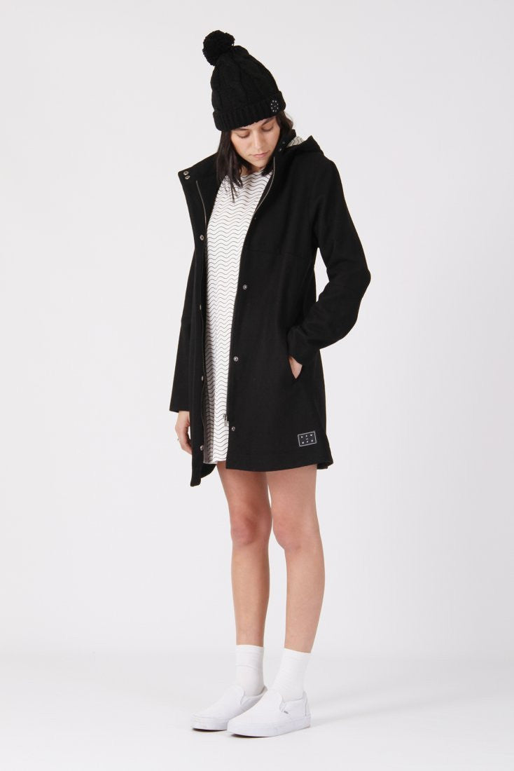 RPM Monroe Overcoat - Black