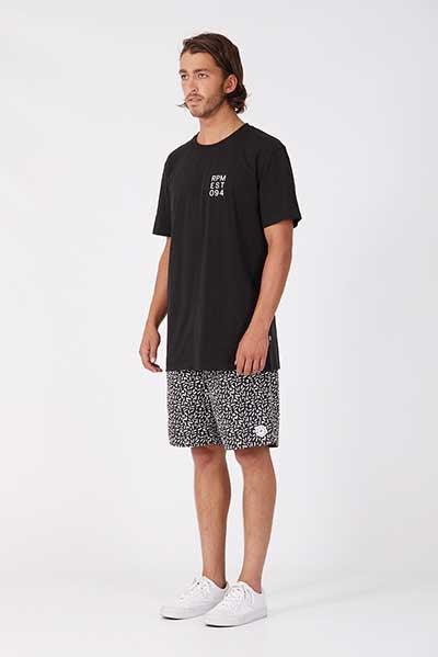 RPM Grid Tee - Black