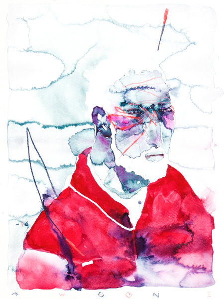 020. A Portrait Of German Man With White Hair