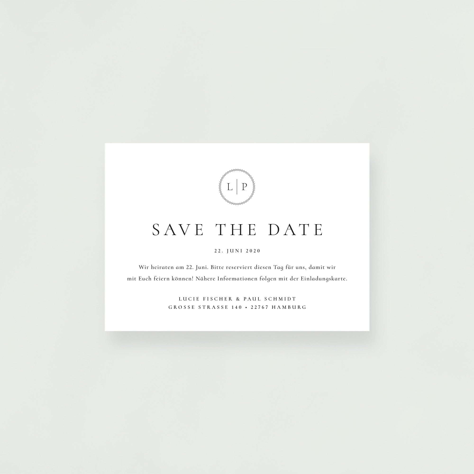 Save-the-Date Karte mit Briefumschlag