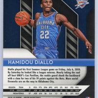 Hamidou Diallo rookie card pink cracked ice 2018-19 Prizm Basketball No. 9