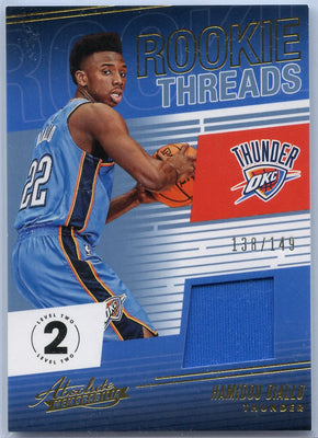 Hamidou Diallo 2018-19 Absolute Memorabilia Basketball Rookie Threads No. RT-HDL