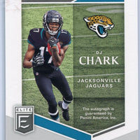 2018 Donruss Elite Football TC-DC DJ Chark Auto RC Jacksonville Jaguars