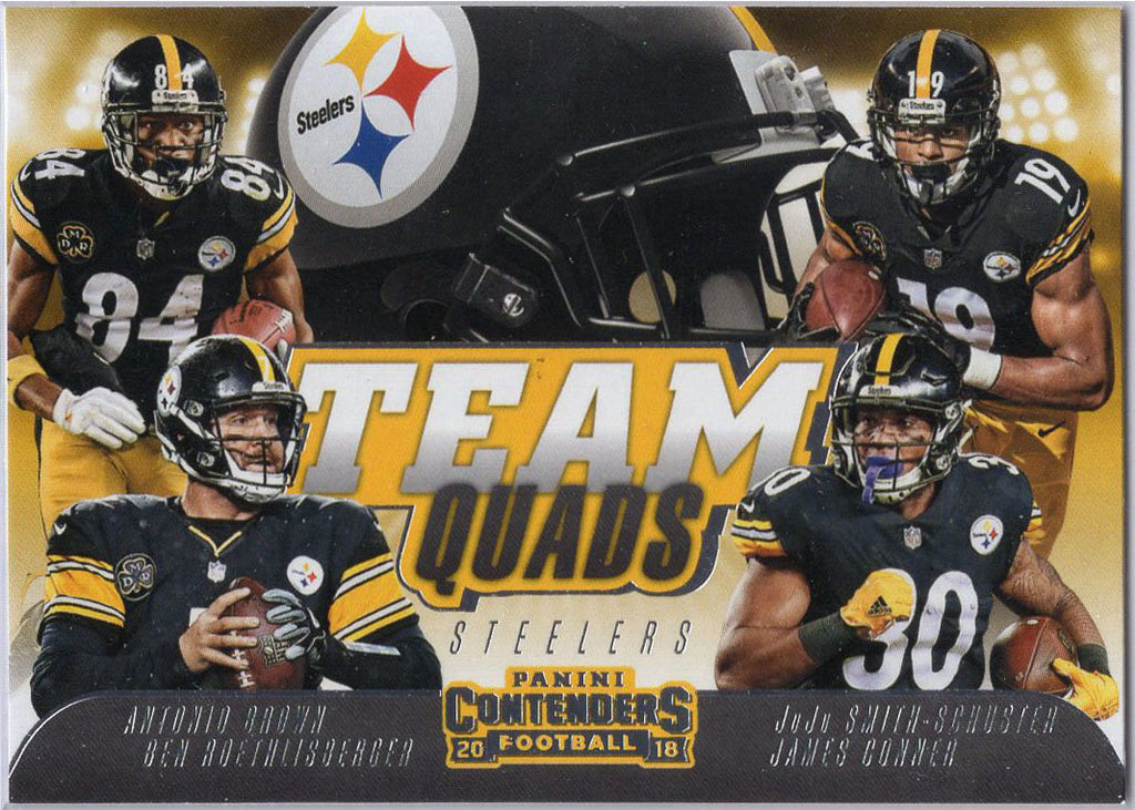 2018 Panini Team Quads Pittsburgh Steelers No. TQ-2