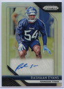 Rashaan Evans autograph rookie card RA-RE 2018 Prizm Football