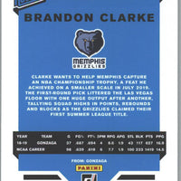 2019-20 Panini - Donruss Basketball Brandon Clarke Rated Rookie card No. 220 Memphis Grizzlies
