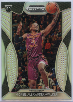 Nickeil Alexander-Walker Silver Rookie Card #18 Prizm Draft Picks 2019 Virginia Tech