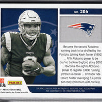 2019 Panini Absolute Football Rookie Premiere Materials Damien Harris RPA card No. 206