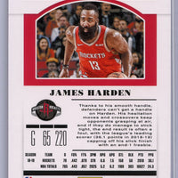 2019 Panini Contenders Draft Picks James Harden Season Ticket Card #18