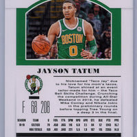 2019 Panini Contenders Draft Picks No. 20 Jayson Tatum Season Ticket card Boston Celtics