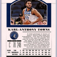 2019 Contenders Draft Picks Karl-Anthony Towns card