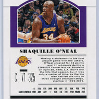 2019 Panini Contenders Draft Picks Shaquille O'Neal Draft Ticket #47 card