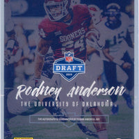2019 Panini Luminance Football Rookie Ink Rodney Anderson autograph rookie card No. RI-RA