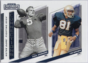 2019 Panini Contenders Draft Picks Notre Dame Connections Paul Hornung and Tim Brown