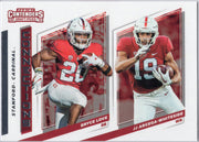 2019 Panini Contenders Draft Picks Bryce Love & JJ Arcega-Whiteside Stanford Connections card #12