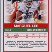 2019 Panini Score Football #41 Marquel Lee Oakland Raiders card