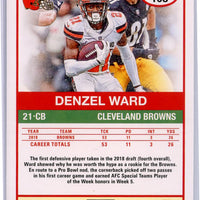 2019 Panini Score Football Denzel Ward #108 Cleveland Browns card
