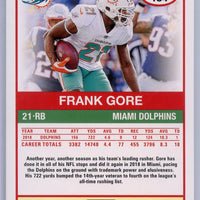 2019 Panini Score Football #134 Frank Gore Dolphins