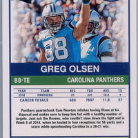 2019 Panini Score Football #258 Greg Olsen Grey Parallel card