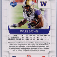 2019 Panini Score Football #345 Myles Gaskin rookie card