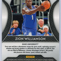 2019 Panini Prizm Draft Picks No. 64 Zion Williamson rookie card Duke