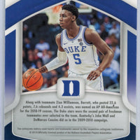 RJ Barrett Prizm rookie card #62 2019 Panini Prizm All-Americans