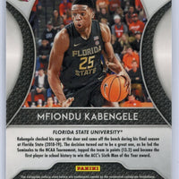 2019 Panini Prizm Draft Picks Silver Mfiondu Kabengele RC #91 Florida State / Los Angeles Clippers