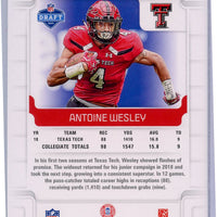 2019 Score football No. 401 Antoine Wesley Rookie Card