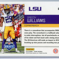 2019 Panini Score Football Greedy Williams RC