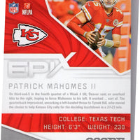 2019 Score Football Epix Moment Patrick Mahomes EM-3 Kansas City Chiefs