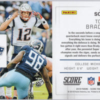 2019 Panini Score Football Tom Brady Signal Callers SC-2 card