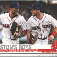 2019 Topps Series 1 Baseball card #28 Boston's Boys Beantowns' Finest Take The Field