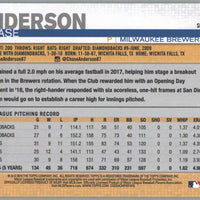 Chase Anderson card 2019 Topps Series 1 Baseball #5 Brewers