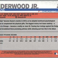 2019 Topps Series 1 Baseball Duane Underwood Jr rookie card #315 Chicago Cubs