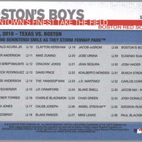 Boston Red Sox #28 Boston's Boys Beantown's Finest Take the Field 2019 Topps Series 1 Baseball