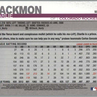 Charlie Blackmon 2019 Topps Series 1 baseball card #16 Colorado Rockies Outfielder