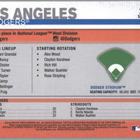 2019 Topps Series 1 Baseball Los Angeles Dodgers Dodger Stadium card #254