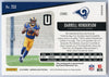 2019 Panini Unparalleled Football No. 253 Darrell Henderson autograph rookie card LA Rams