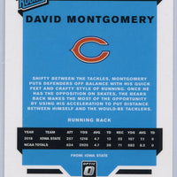 David Montgomery Rated Rookie Card #161 2019 Panini Donruss Optic Football Chicago Bears
