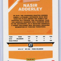 2019 Panini Donruss Optic Football #128 Nasir Adderley auto rookie card Bronze LA Chargers