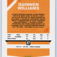 Quinnen Williams Rookie Card #103 New York Jets 2019 Panini Donruss Optic Football