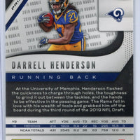 2019 Prizm Football 330 SILVER Darrell Henderson rookie card Rams